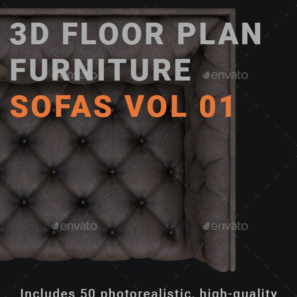 3D Floorplan Furniture Sofas Vol01