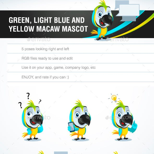 Parrot Macaw Mascot