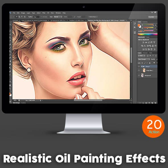 Realistic Oil Painting Effects - Photoshop Action