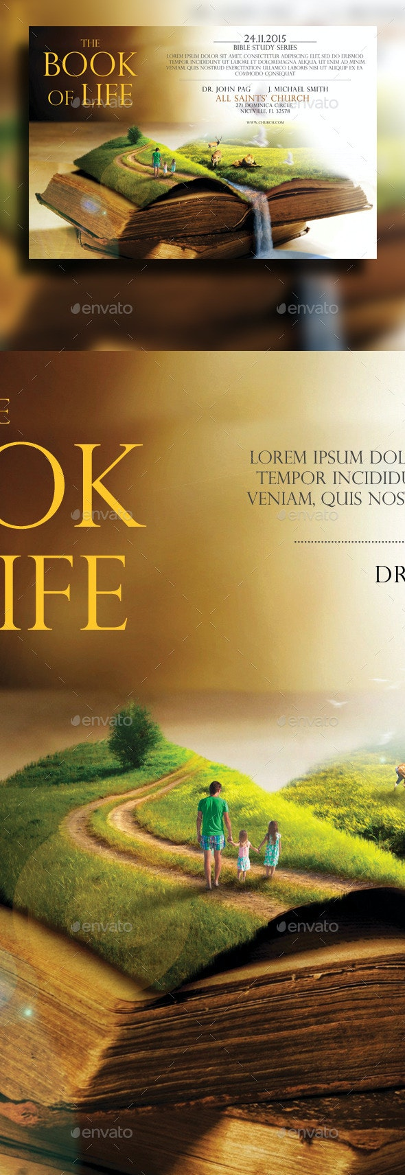 The Book Of Life Flyer - Church Flyers