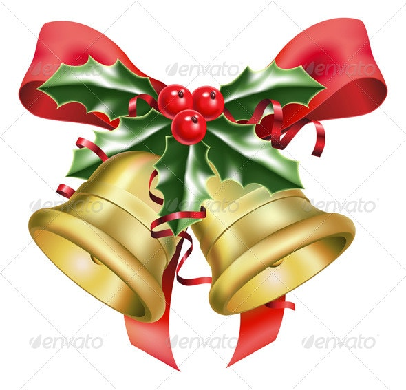 Festive bells and bows  - Man-made Objects Objects