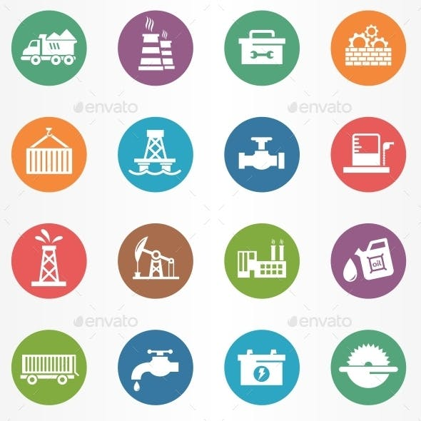 Industry Circle Icons