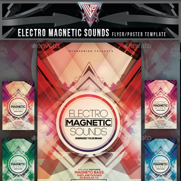 Electro Magnetic Sounds Flyer Template