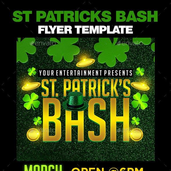 St Patricks Bash Flyer Template
