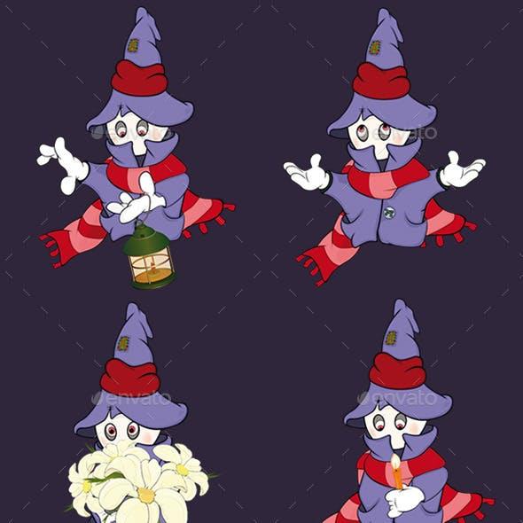 Set of Ghosts Cartoons