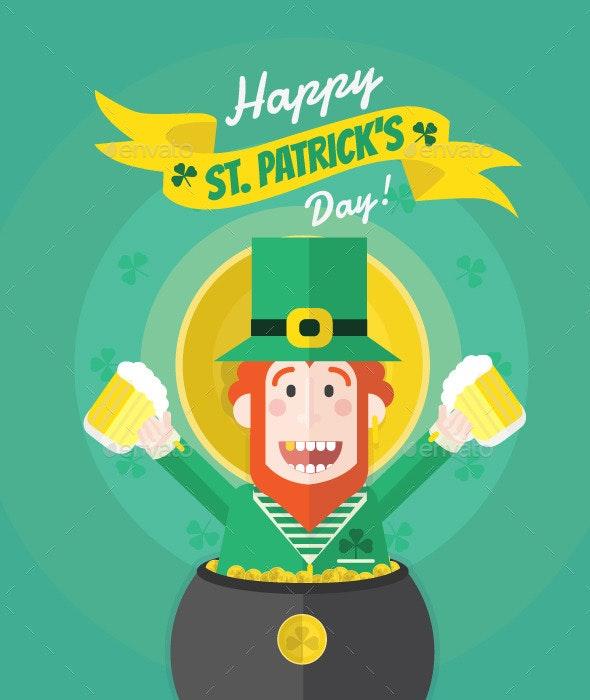 St Patricks Day Green Leprechaun - Seasons/Holidays Conceptual
