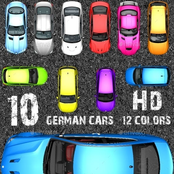 Top Down Racing Game Kit - German Sports Cars !!!