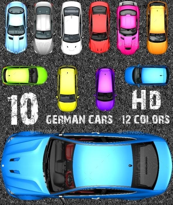 Top Down Racing Game Kit - German Sports Cars !!!