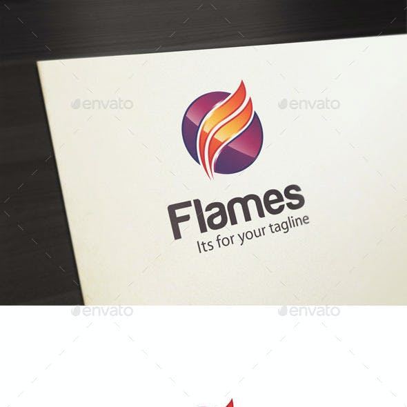 Flames, F Letter Logo