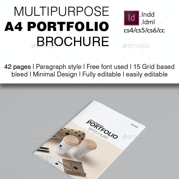 Multipurpose A4 Portfolio Brochure Template