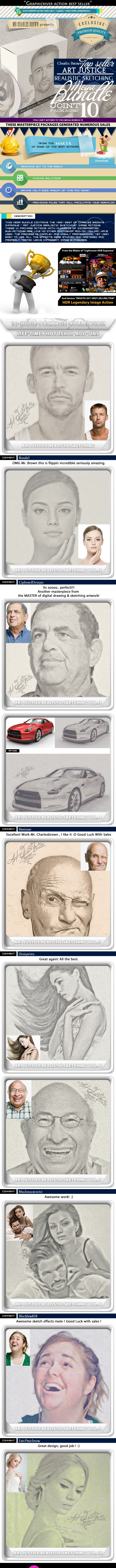 All Charles Brown Art Justice Realistic Sketching - Photo Effects Actions