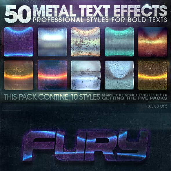 50 Metal Text Effects 3 of 5