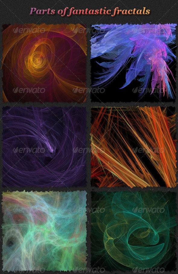 Fantastic Fractals Set 2 - Backgrounds Graphics