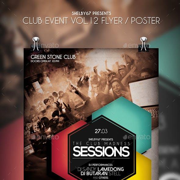 Club Event Flyer / Poster Vol.12