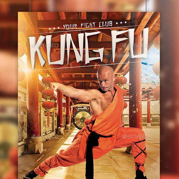 Kung Fu Fight Flyer Template