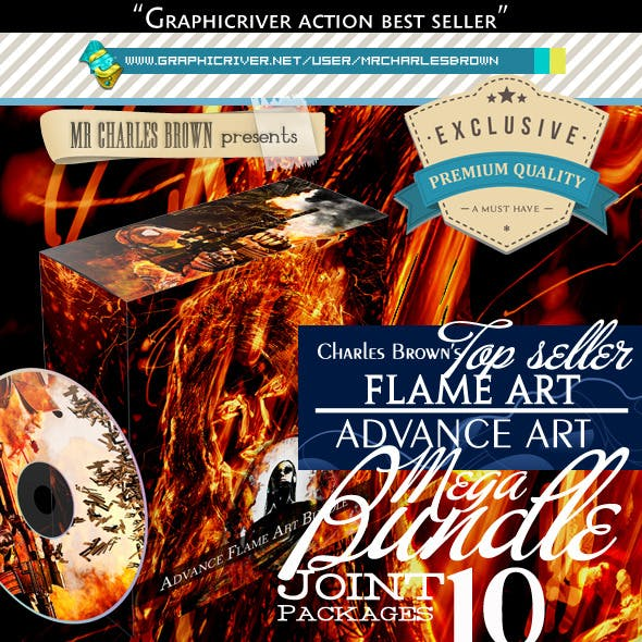 All Charles Brown's Advance Flame Art Bundle