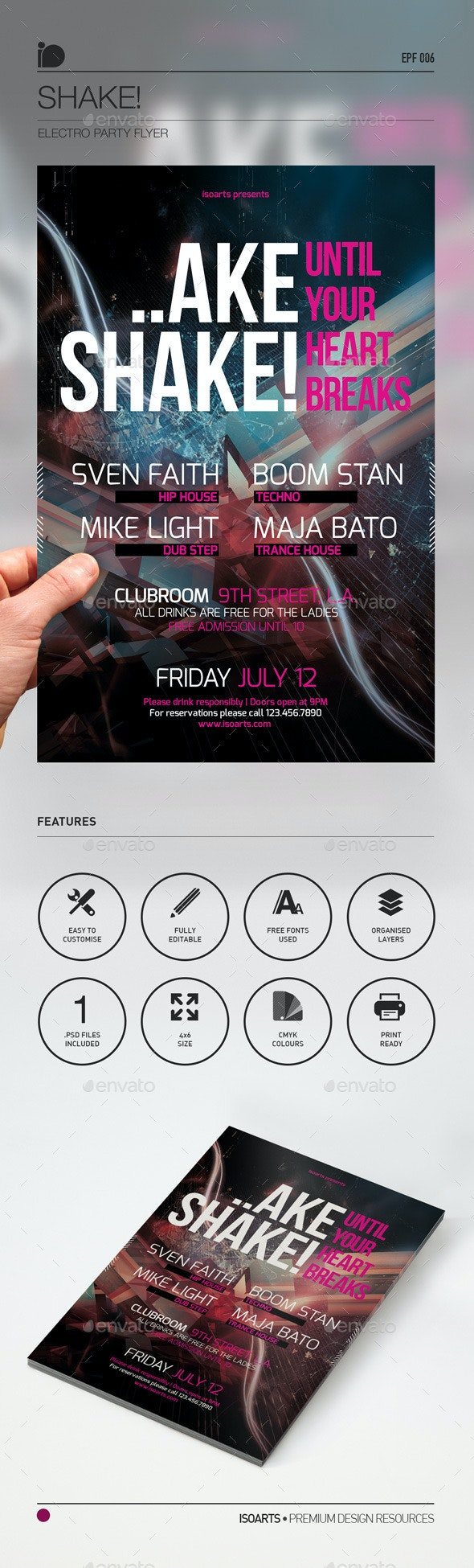 Electro Party Flyer • Shake! - Events Flyers