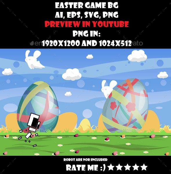 Easter game BG - Backgrounds Game Assets