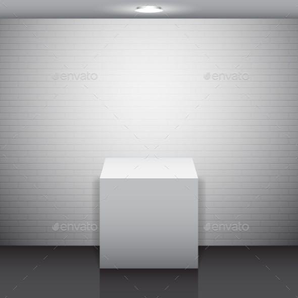 Empty White Stand
