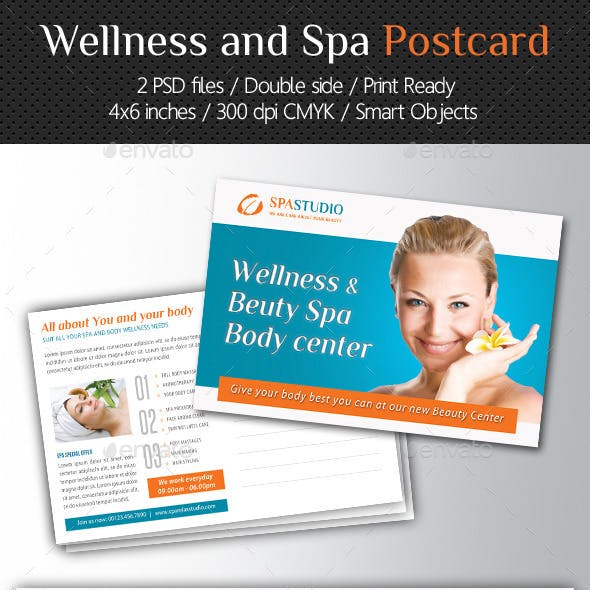 Wellness and Spa Postcard Template V04