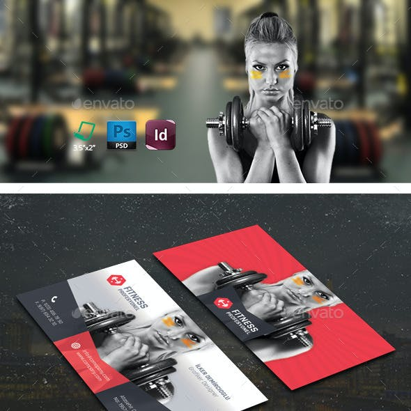 Fitness Business Card Templates