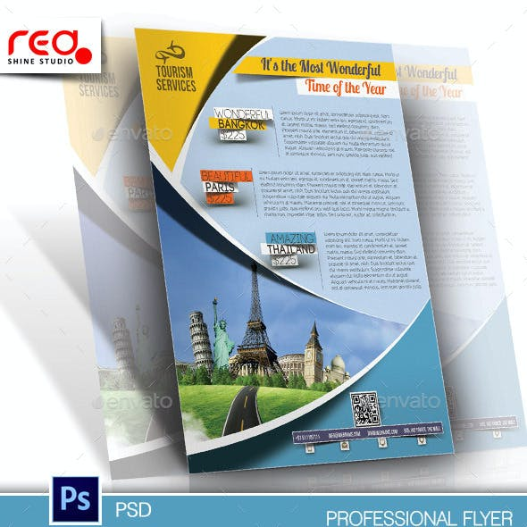 Holiday Travel Flyer & Poster Template