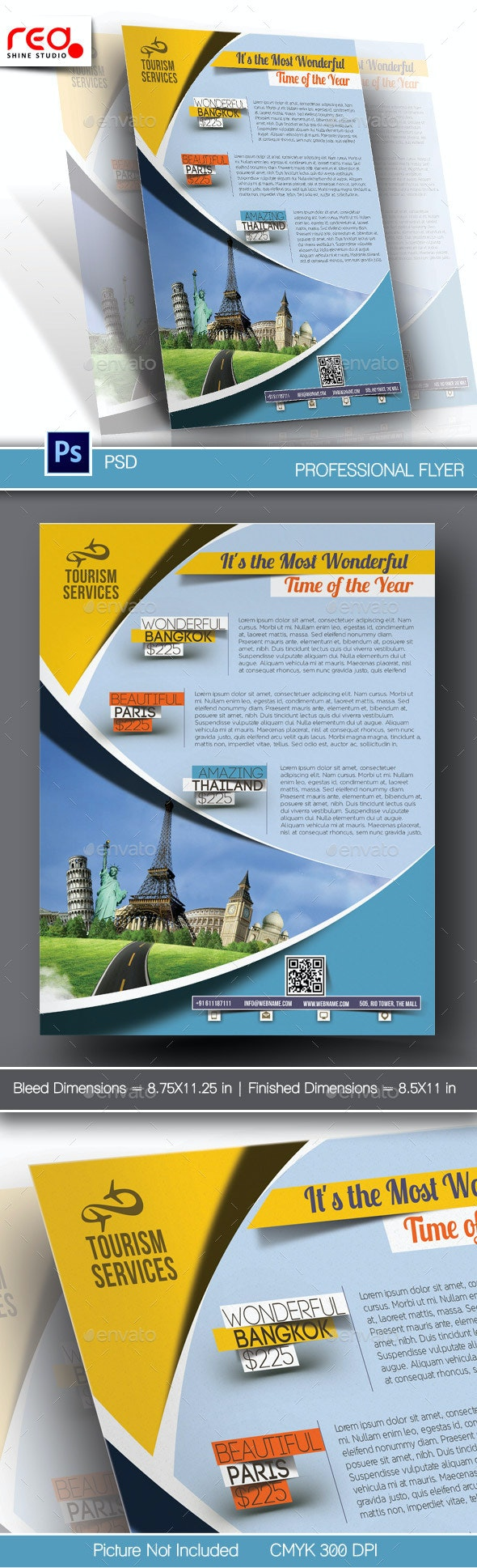 Holiday Travel Flyer & Poster Template - Corporate Flyers