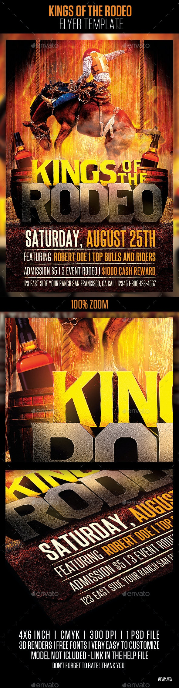 Kings of the Rodeo Flyer Template - Events Flyers