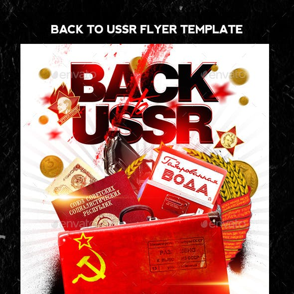 Back to USSR Flyer