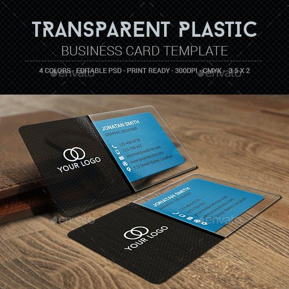 Transparent Plastic Business Card Template
