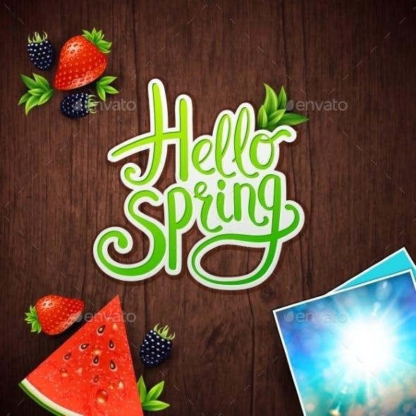 Hello Spring Card Design