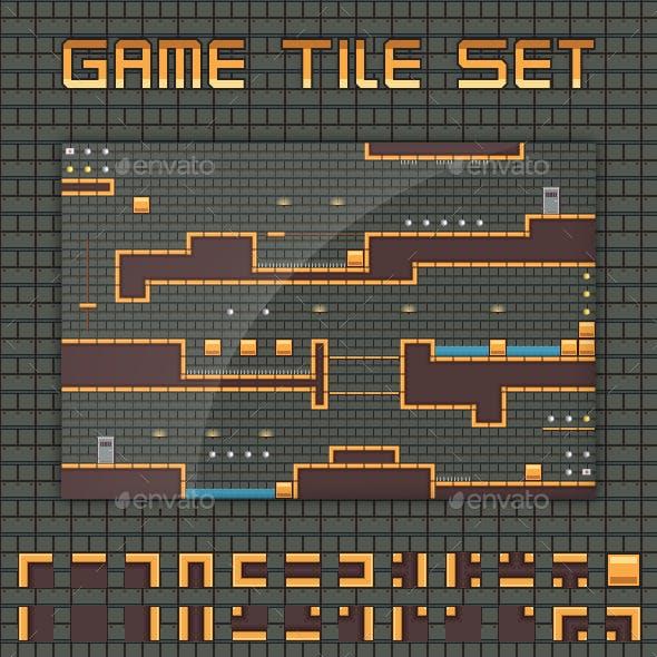 Platformer Game Tile Set