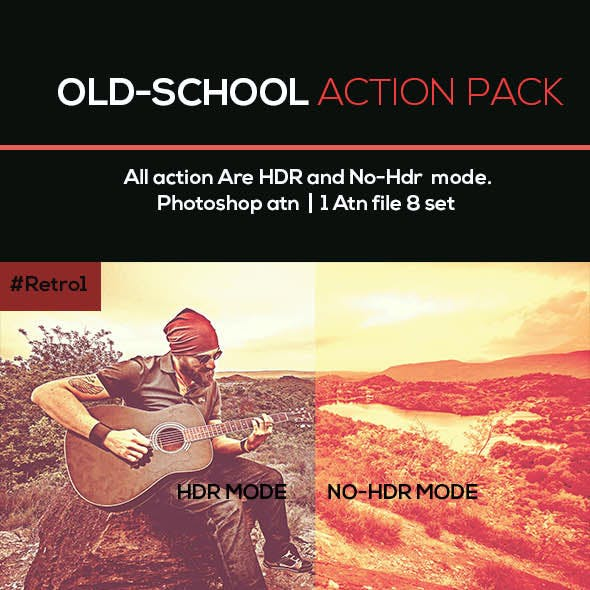 Old-School Photoshop Action Pack