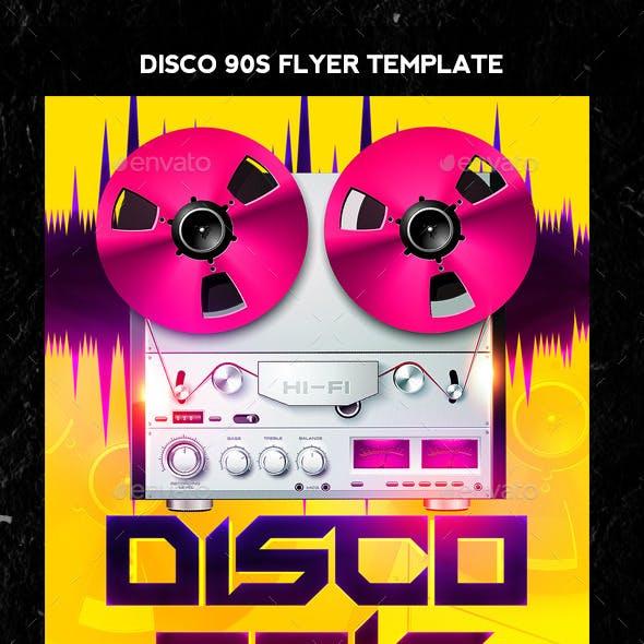 Disco 90s Flyer