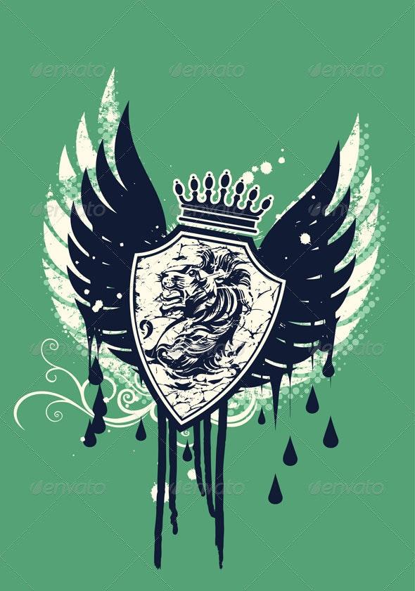 Lion crest design - Decorative Symbols Decorative