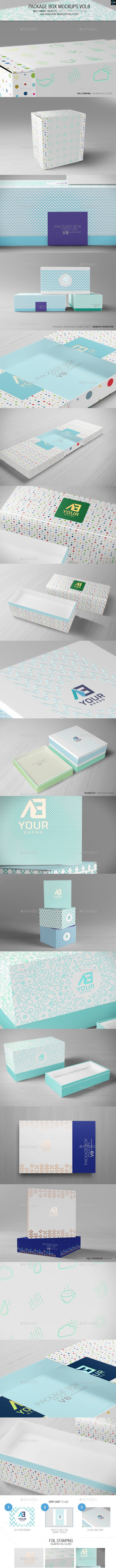Package Box Mockups Vol8 - Packaging Product Mock-Ups
