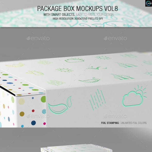 Package Box Mockups Vol8