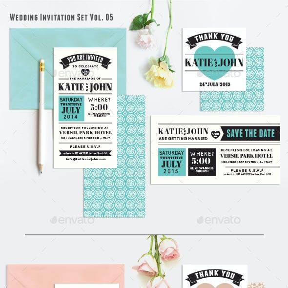 Wedding Invitation Set Vol. 05