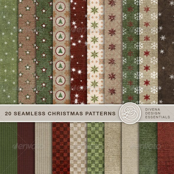 20 Seamless Christmas Backgrounds