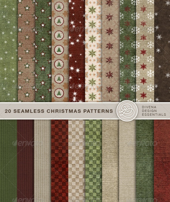 20 Seamless Christmas Backgrounds - Art Textures