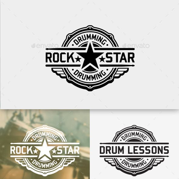 Drum Rock Star Logo