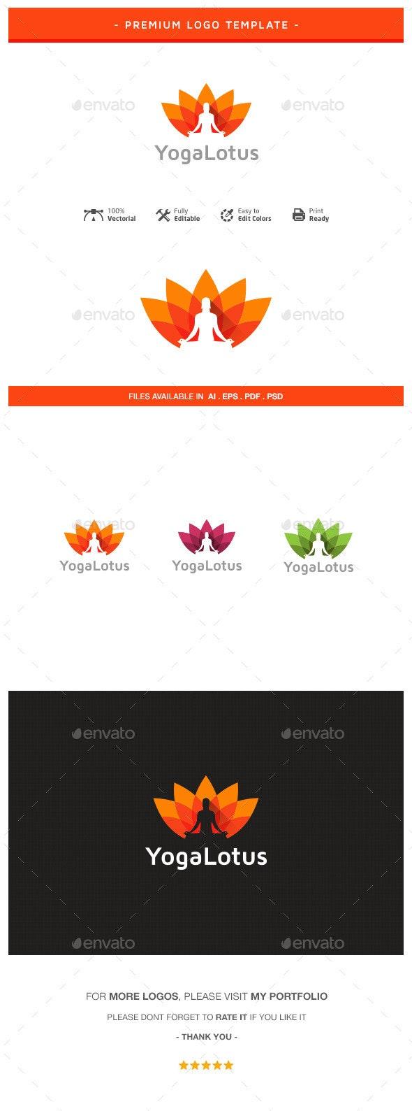 Yoga Lotus Logo Template - Nature Logo Templates