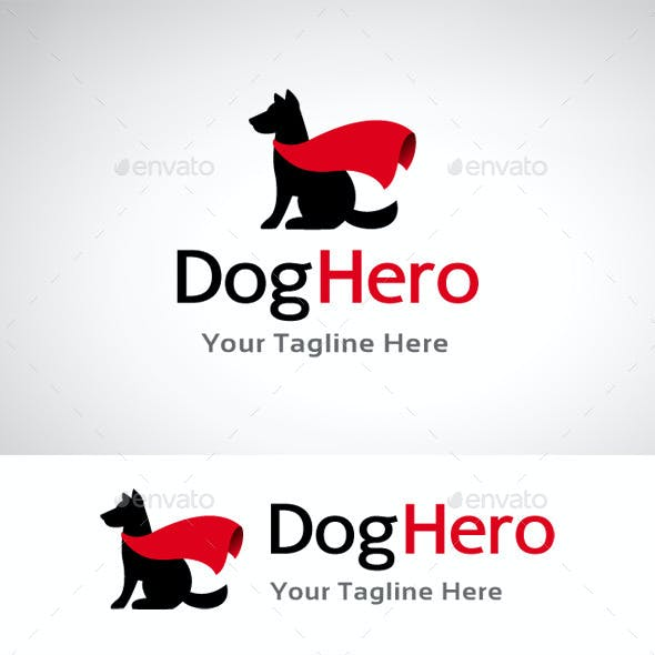 Dog Hero Logo Template