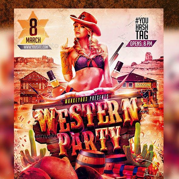 Flyer Western Party Konnekt