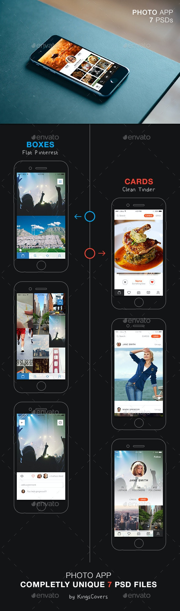 Photo App UI - User Interfaces Web Elements