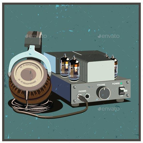 Headphones and Amplifier Set