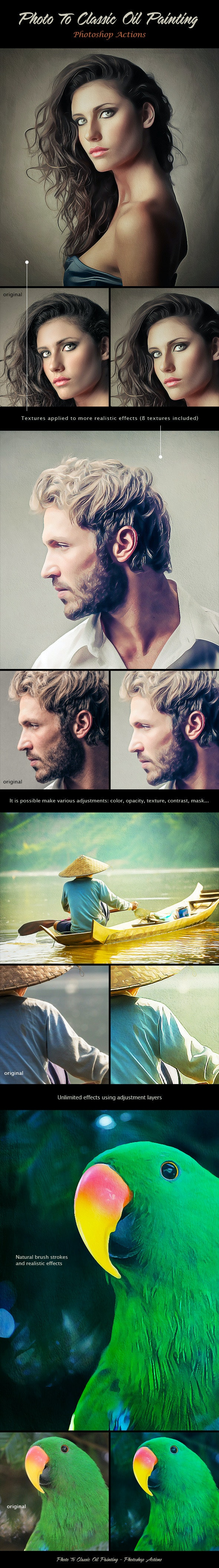Photo To Classic Oil Painting - Photo Effects Actions