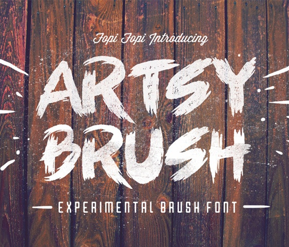 Artsy Brush Font - Graffiti Fonts