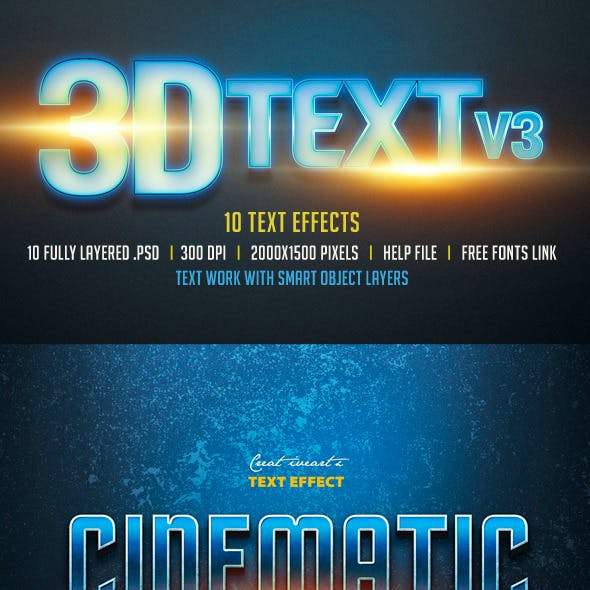 3D Text Col 3