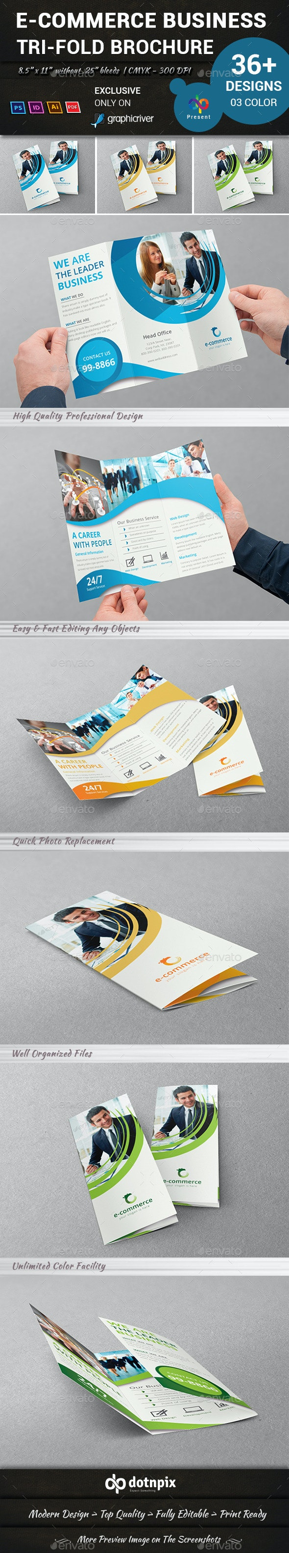 E-Commerce Business Tri-Fold Brochure - Corporate Brochures